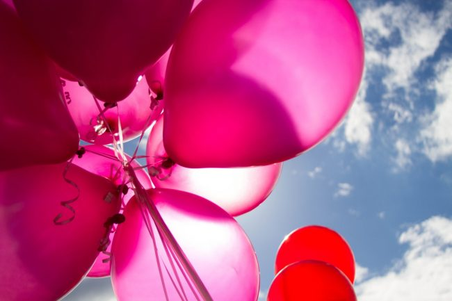 Ballons in the sky - wake and commemerations - village hall hire